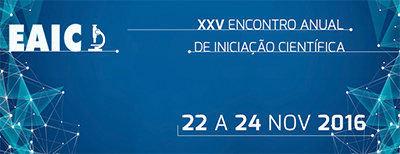 XXV Encontro Anual de Iniciação Científica – EAIC