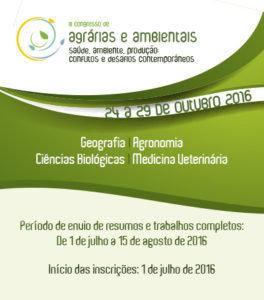 Congresso de Ciências Agrárias e Ambientais de Guarapuava