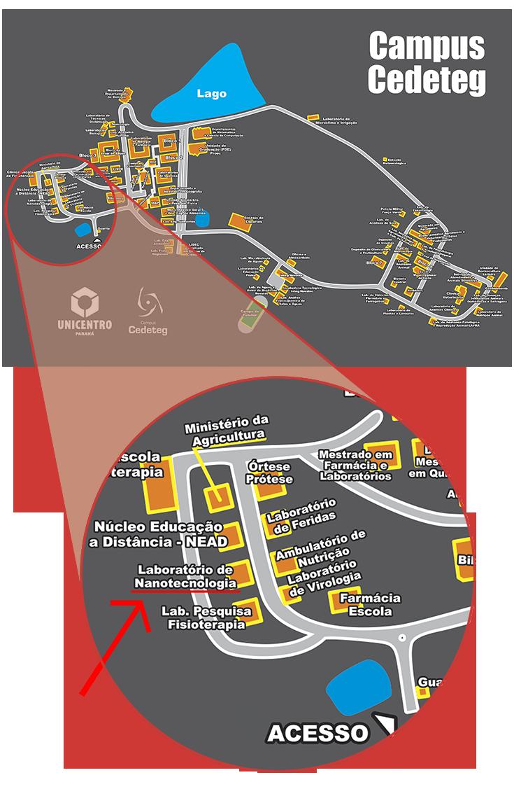 Localização - Campus Cedeteg